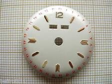 Cadran montre ancienne or vintage dial triple quantieme,date ottomans ,28,5 mm