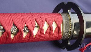 Hand-Forged-Japanese-Musashi-Samurai-Sword-Katana-Iaido-Full-Tang-Iaito