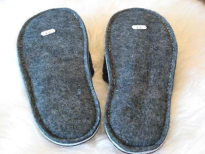 Filz Hausschuhe*Filzschuhe*Hüttenschuhe*Schlappen*Pantoffeln*Slipper Filzsohle