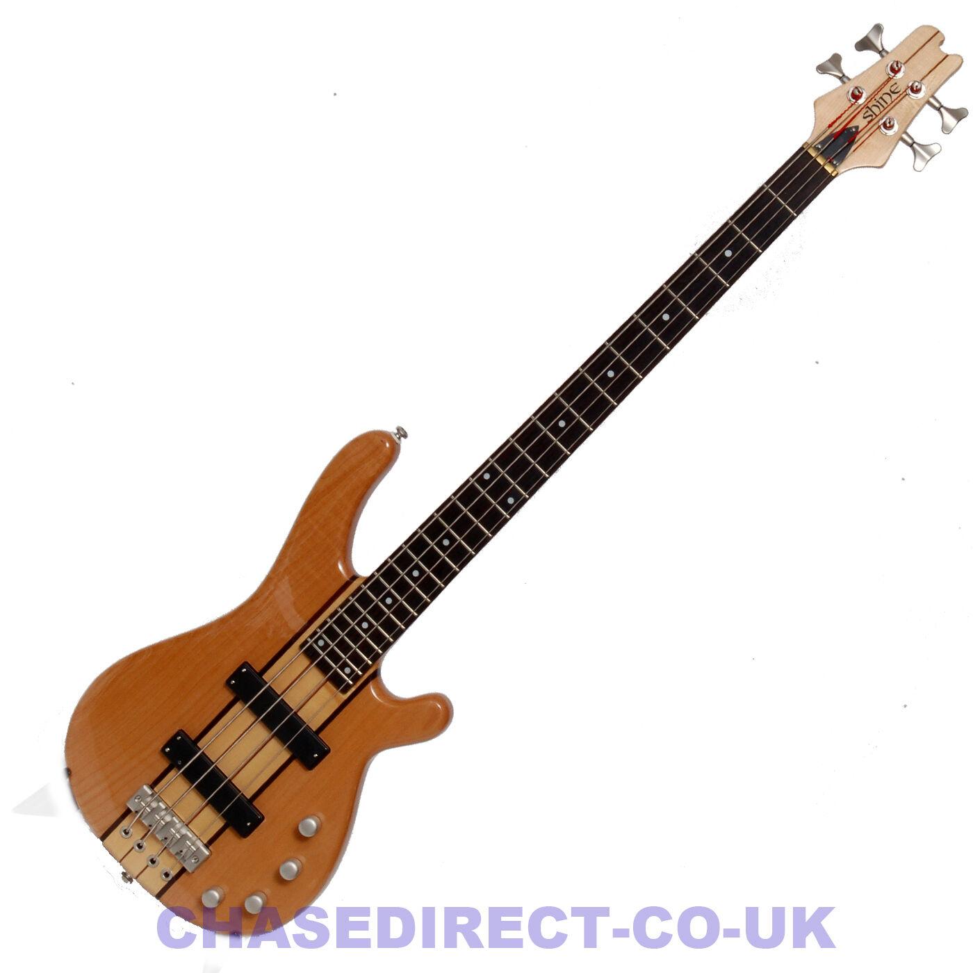Shine Bajo Eléctrico Eléctrico Eléctrico Guitarra SBT-704 Activo Pastillas a través de cuello cuerpo de arce 4 Cuerdas e4ffa5