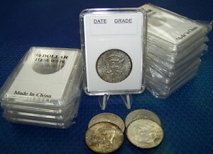 10-Coin-Holders-Slab-Style-for-US-Half-Dollar-size-30-5-mm