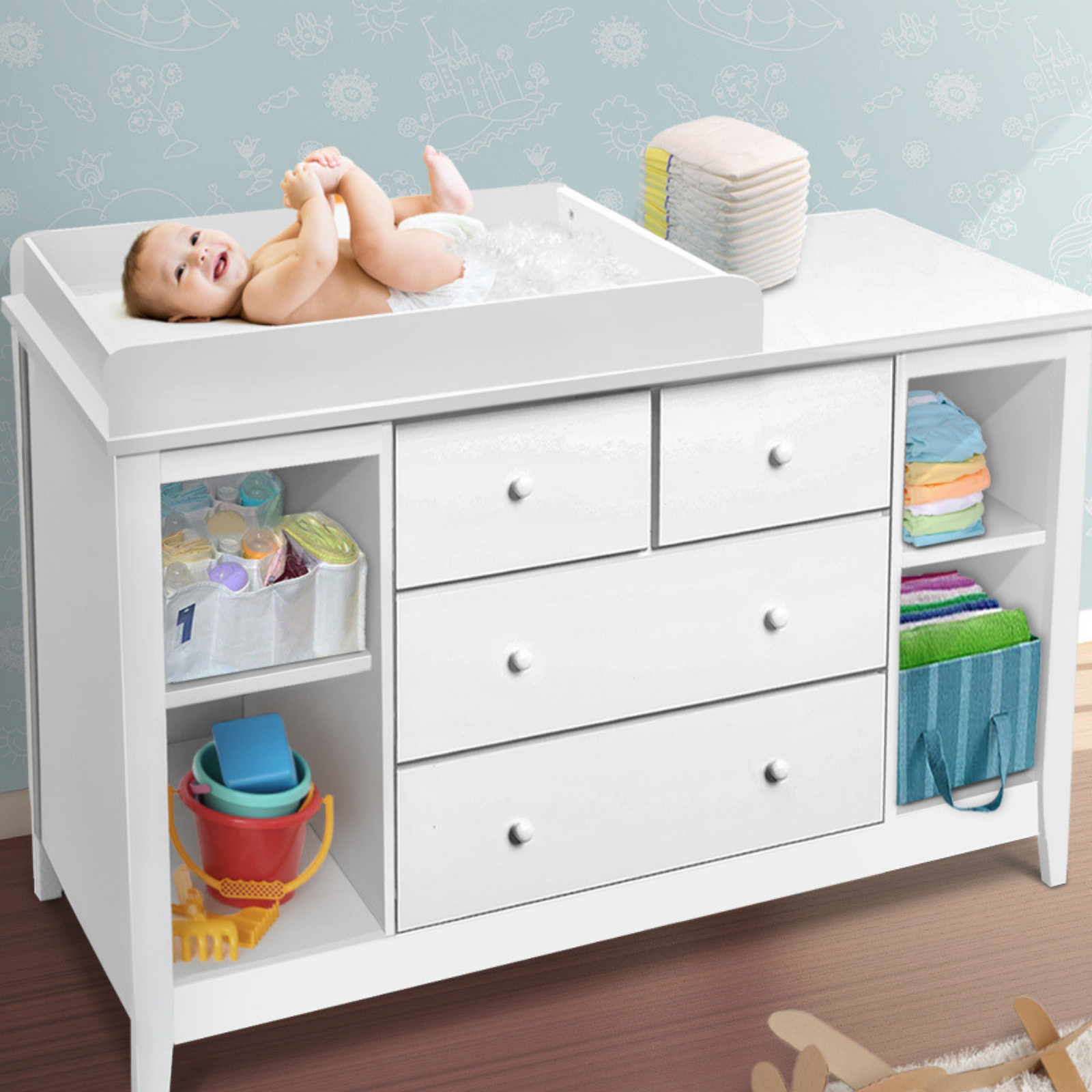 Baby Change Table Drawers Chest Home