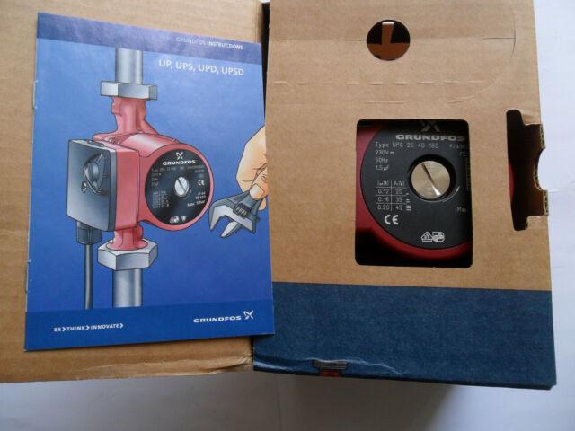 Grundfos UPS 25-40 180mm 96281379 Heizungspumpe NEU mit Rechnung