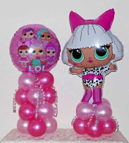 LOL SURPRISE DOLLS 2 PACK FOIL BALLOON TABLE DECORATION  DISPLAY