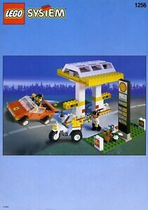NEW-Lego-Town-1256-SHELL-PETROL-PUMP-Sealed