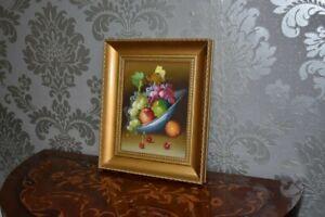 Quadro-classico-Dipinto-ad-olio-composizione-con-frutta-natura-morta
