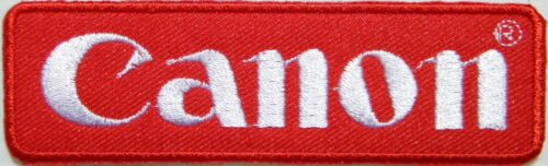Patch Iron on Embroidered for Photographer Canon Digital Camera Bag T shirt Vest