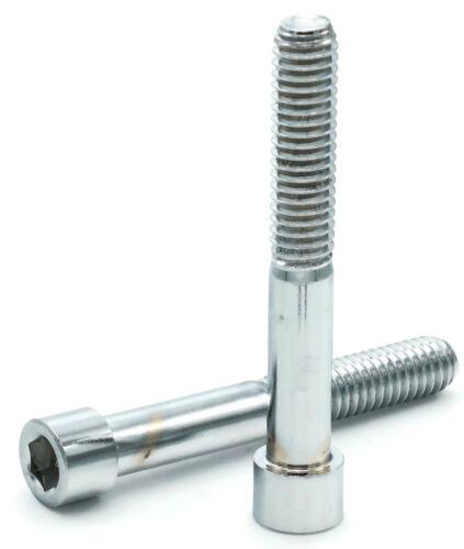 "Select Length /& Qty 5//16/""-24Chrome Plated Steel Socket Head Cap Screws"