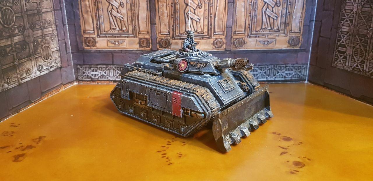 DödsKorps från Krieg Hellhound Tank befälhavare målade Warhammer 40k Imperium