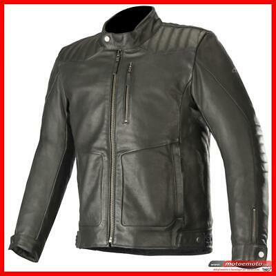 Blouson Moto Cuir Alpinestars Crazy Eight Black Protections Vintage Souple Noir | eBay