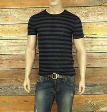 John Varvatos T-Shirt in Twilight Blue Size S Ramie/Viscose Short Sleeve $98.00