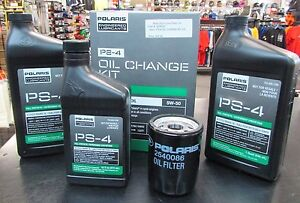 Polaris PS-4 Oil Change Kit 2879323 Ranger/RZR 900/1000 FREE USPS Priority SHIP!
