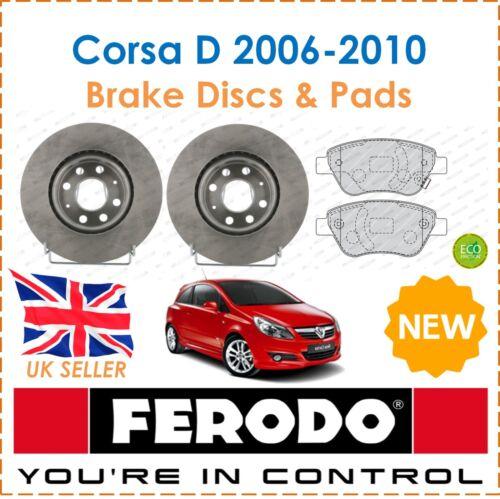 Brake Pads Set New For Corsa D 1.2 1.4 2006-2010 FERODO Two Front Brake Discs