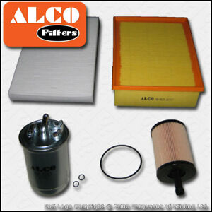 SERVICE-KIT-AUDI-A4-B7-2-0-TDI-16V-ALCO-OIL-AIR-FUEL-CABIN-FILTERS-2004-2008