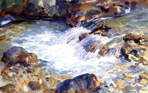In the Tyrol     by John Singer Sargent Giclee Canvas Print Repro