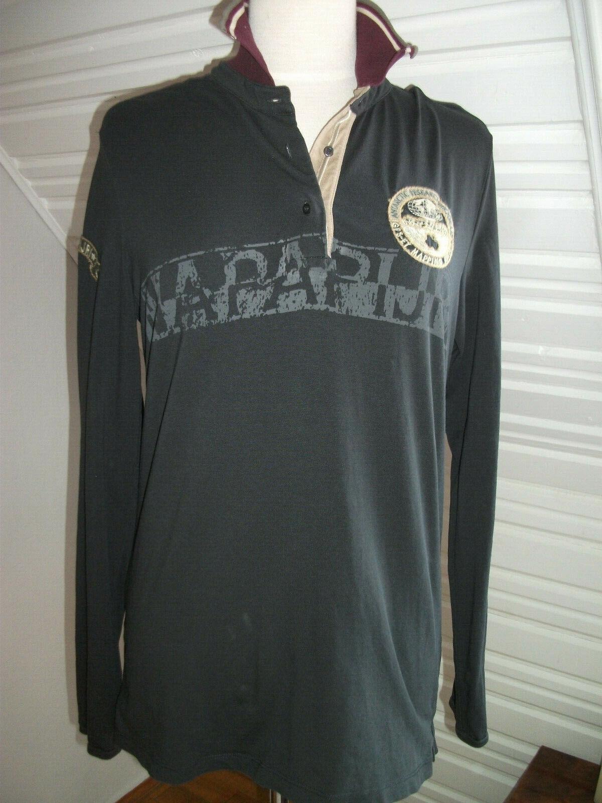 Orig. Napapijri - sportliches,bequemes,graues Shirt mit  Knopfleiste Gr.42 neuw. | Realistisch  | Niedrige Kosten  | Hervorragende Eigenschaften  | Hochwertige Materialien  | Sonderpreis