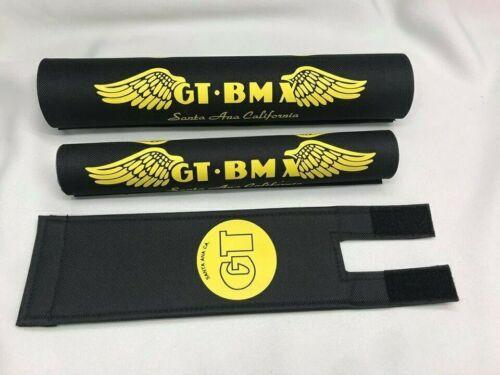 Old School BMX G T PRO Pad Re Made Sets frame handlebar stem black yellow