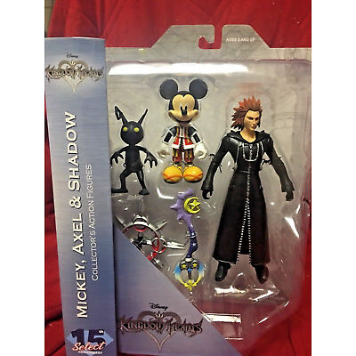Diamond Select Kingdom Hearts MICKEY Mouse AXEL SHADOW Multi-Pack Action Figure+