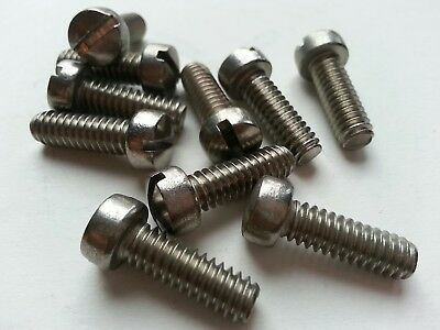 8-32 X 5//16 Slotted Fillister Machine Screw Brass Package Qty 100