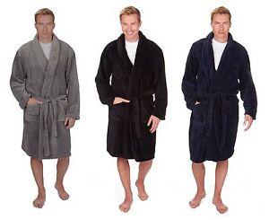 Details about Mens Plain Supersoft Fleece Dressing Gown   Bath Robe ~  Medium to 5XL ~ upto 64