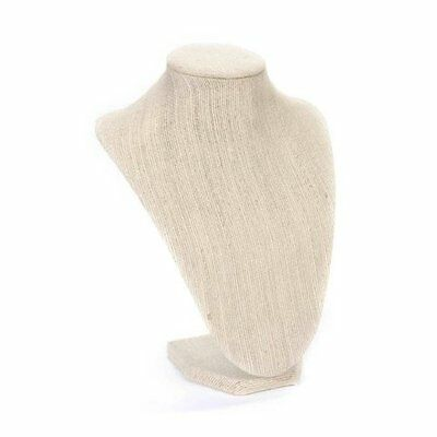 Necklace Stand Display Decor Jewelry Holder Rack Sturdy 8.5 Inch Linen Finish