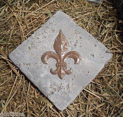 "MOLD plaster mould cement single fleur corner  travertine tile mold 6"""