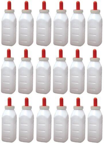 Milk Specialties # 973 Advance 2 Qt Calf 18 Livestock Screw Top Bottle Sets