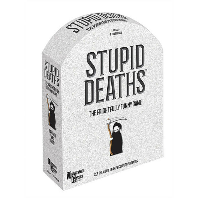 Stupid Deaths Kids Teens Trivia Fun Party Board Game - NEW
