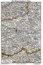 Der Kriegsschauplatz in Polen 1914-18 WAR MAP WW I.
