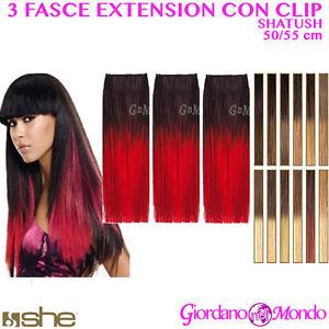 Extension clip capelli veri contrassegno