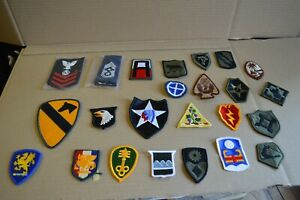 Lot-of-50-Different-Unit-Patches-Insignia-Army-Navy-Air-Force-101st-1st-Cav