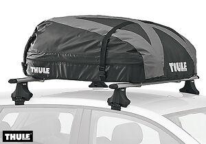 thule ranger 90 280 litre universal foldable roof box roof genuine ke734ran90 ebay. Black Bedroom Furniture Sets. Home Design Ideas