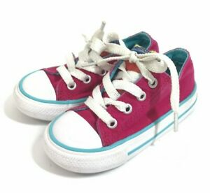 Star Canvas Sneakers Pink Infant Size