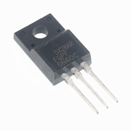 5PCS FQPF5N60C 5A 600V N-Channel Field effect transistor TO-220F NEW