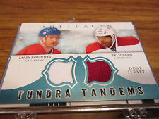 12/13 ARTIFACTS TUNDRA TANDEMS LARRY ROBINSON AND P K SUBBAN DUAL JERSEY