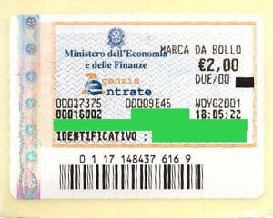 Marca-da-bollo-telematica-originale-da-2-euro-6-novembre-anno-2019-Marche-Nuove
