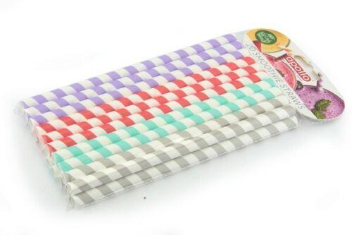 40x Biodégradable papier Smoothie Pailles 10 mm Large Décorations de fête