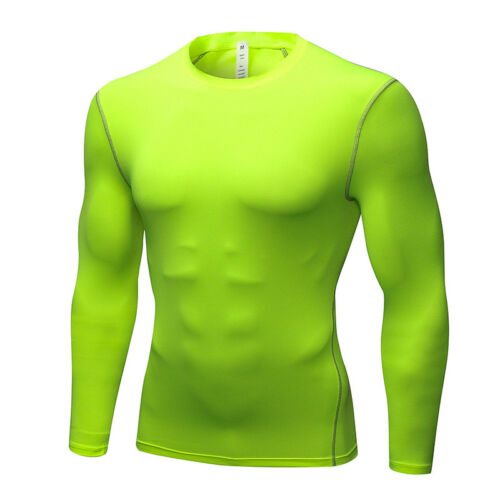 Men/'s Compression Gym Workout Shirts Long Sleeve Dri fit Quick-dry Light weight