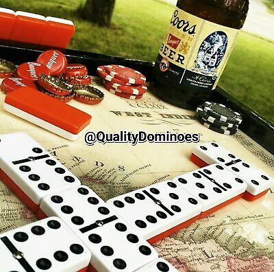 Real Madrid Domino Game Set Double 6 Dominoes Futbol Dominos Man Men Father Gift