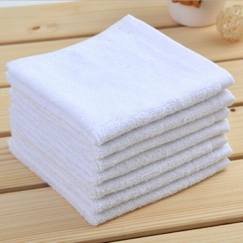 12 new white terry wiping shop towels bar mop towels 16x19 white terry 26oz