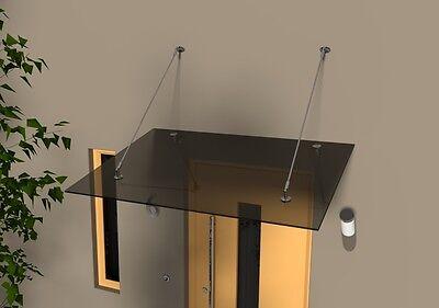 Haustür Edelstahl Glas Vordach 1,8m X 1,1m Ca.14 Mm Vsg Heimwerker Baustoffe & Holz