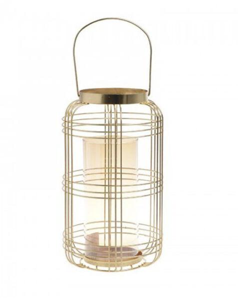 """Acquista A Buon Mercato Art.in106 Lanterna Decorativa """"glass Lanter In Golden"""" Www.stendhalstores.it"""