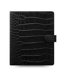 Filofax Classic Croc A5 Size Organizerplanner Ebony Color Leather 026071