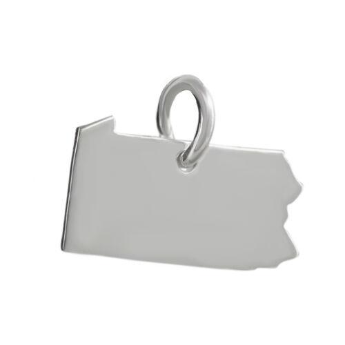 Pennsylvania State Charm-Argent Sterling 925 Keystone colonie Liberty Tiny