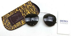 DUTCH-ARMY-CLIP-ON-UV-SUN-GLASSES-in-CASE-LUXOTTICA-RAY-BAN-49-19