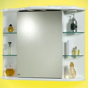 SPECCHIERA-CONTENITORE-88-per-MOBILE-DA-BAGNO-bianco-Laccata-BIANCA-Specchio-MDF
