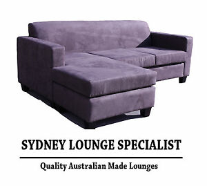 Australian Made Mossvale 3 Seater Chaise Lounge Mink