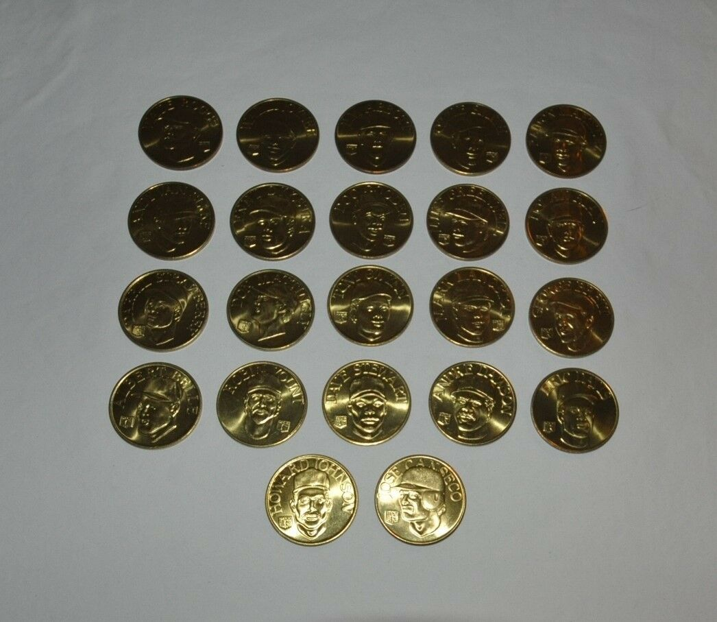 22 Coin Set Brass Slammer MLB 1992 Sports Stars Collectors Coins Ramon Martinez