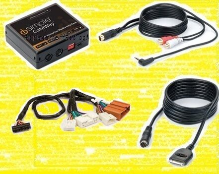 BT//HD optional Mazda radio iPod interface w// TEXT 3.5mm aux audio input cable