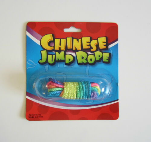 10 NEW CHINESE JUMP ROPES MULTI COLORED NEON ELASTIC JUMP ROPE CLASSIC TOY